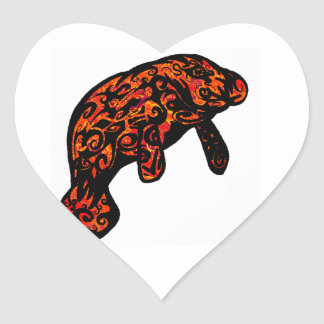 THE RIVER MANATEE HEART STICKER