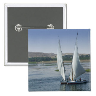 The River Nile and sailing boats used as 15 Cm Square Badge