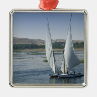 The River Nile and sailing boats used as Christmas Ornament