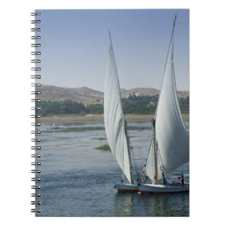 The River Nile and sailing boats used as Spiral Note Books