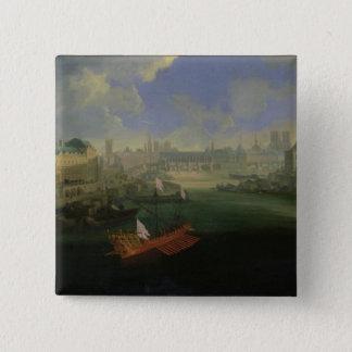 The River Seine 15 Cm Square Badge