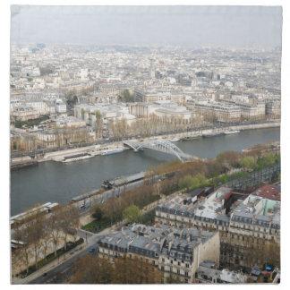 The river Seine in Paris, France Napkin