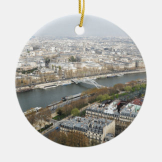 The river Seine in Paris, France Round Ceramic Decoration