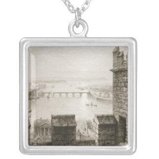 The River Shannon and Limerick Silver Plated Necklace