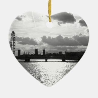 The River Thames and London mono Christmas Ornament
