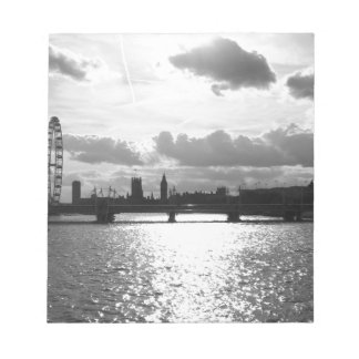 The River Thames and London mono Notepad
