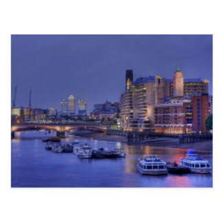 The River Thames at Dusk Postcard