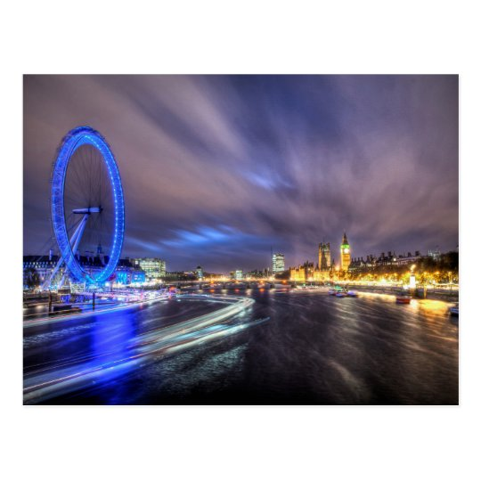 The River Thames at night Postcard