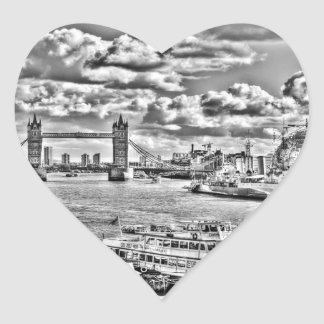 The River Thames Heart Sticker