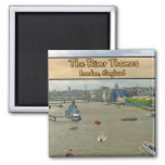 The River Thames London England Magnets