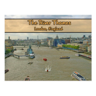The River Thames London England Post Card