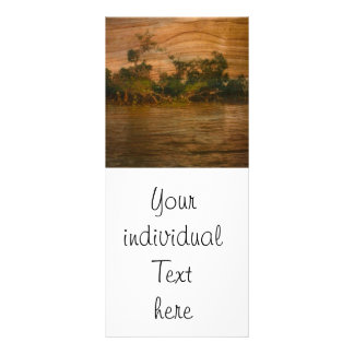 the river, wooden ar rack card template