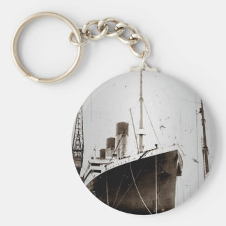 The RMS Olympic (1929) Basic Round Button Key Ring
