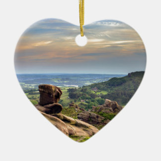 The Roaches Ceramic Heart Decoration