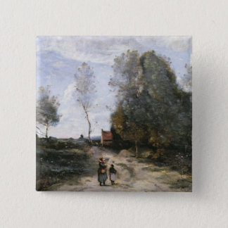 The Road 15 Cm Square Badge