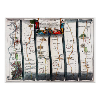 'The Road From London to the Lands End -1698 Poster