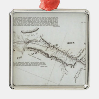 The Road From Missouri to Oregon 2 Silver-Colored Square Decoration