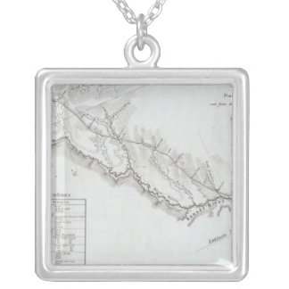 The Road From Missouri to Oregon 4 Silver Plated Necklace