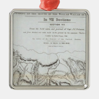The Road From Missouri to Oregon Silver-Colored Square Decoration
