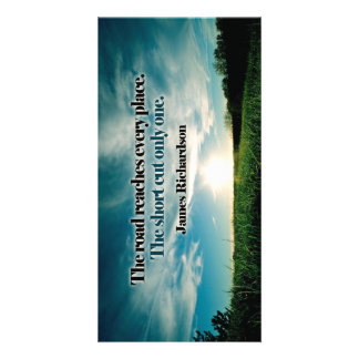 The Road Inspirational Custom Photo Card