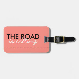 THE ROAD IS CALLING - Soft Rose Adventurer's Style Luggage Tag