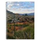 'The Road Less Travelled' Sign Mountain Notebook