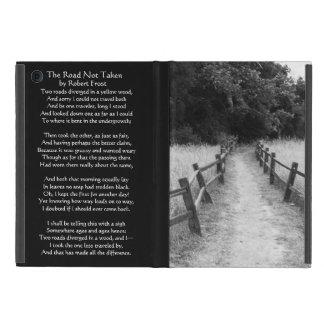 The Road Not Taken Robert Frost Nature iPad Case