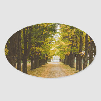 The Road of Life Oval Sticker