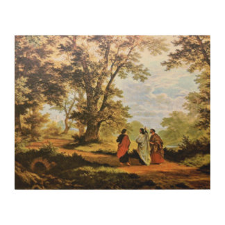 THE ROAD TO EMMAUS, WOOD CANVAS