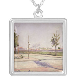 The Road to Gennevilliers, 1883 Silver Plated Necklace