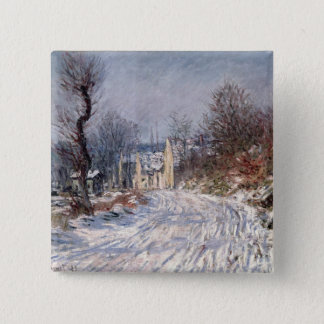 The Road to Giverny, Winter, 1885 15 Cm Square Badge