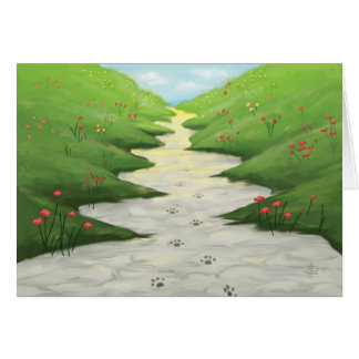 The Road To Heaven... (pet sympathy card) Greeting Card