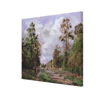 The road to Louveciennes at the edge of the Canvas Print