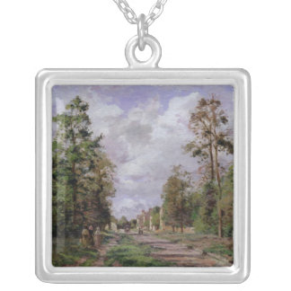 The road to Louveciennes at the edge of the Silver Plated Necklace