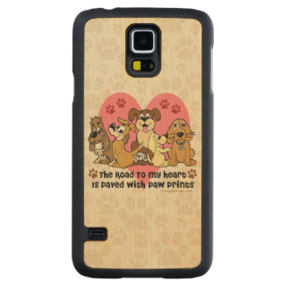 The Road To My Heart Dog Paw Prints Maple Galaxy S5 Slim Case