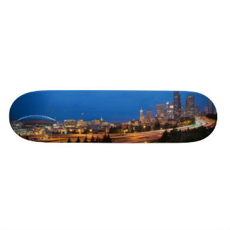 The road to Seattle Skateboard Deck