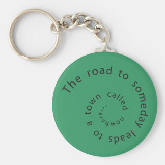 The road to someday basic round button key ring
