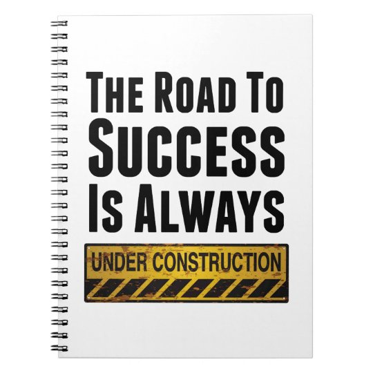 The road to success spiral notebook