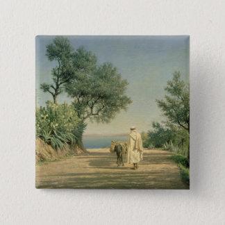 The Road to the Sea, Algeria, 1883 15 Cm Square Badge