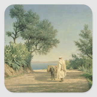 The Road to the Sea, Algeria, 1883 Square Sticker
