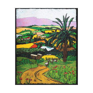 The Road to the Sea of Galilee by Jonathan Kis-Lev Canvas Print