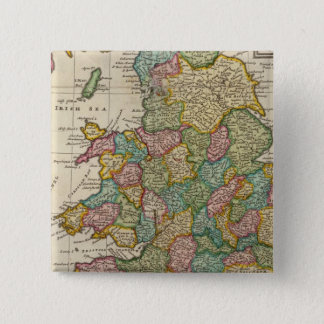 The roads of England and Wales 15 Cm Square Badge