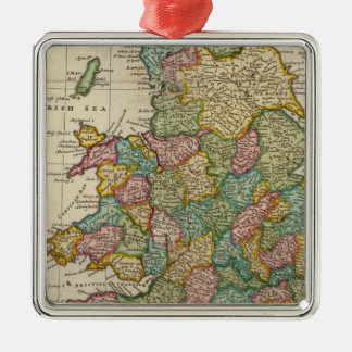 The roads of England and Wales Silver-Colored Square Decoration