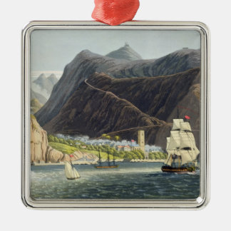 The Roads, St. Helena, engraved by Robert Havell ( Christmas Ornament