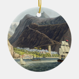 The Roads, St. Helena, engraved by Robert Havell ( Round Ceramic Decoration