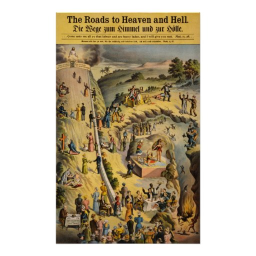 The Roads to Heaven and Hell Poster