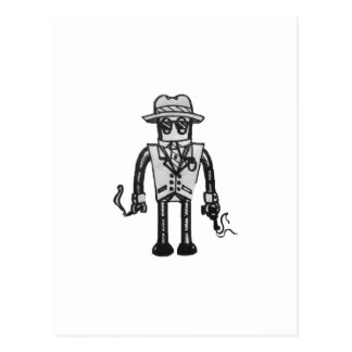 The Robot Takeover Gangster Robot Postcards