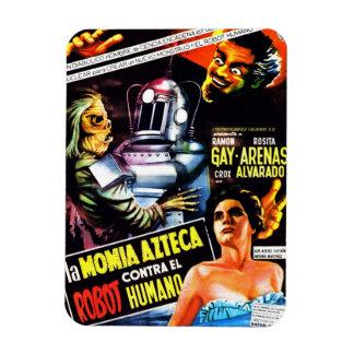 """The Robot vs. The Aztec Mummy"" Magnet"