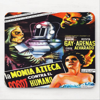 """The Robot vs. The Aztec Mummy""  Mousepad"