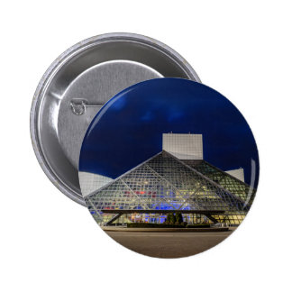 The Rock and Roll Hall of Fame at Dusk 6 Cm Round Badge